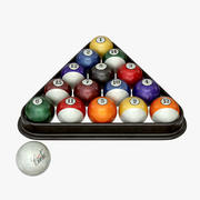 Бильярдные шары 3d model