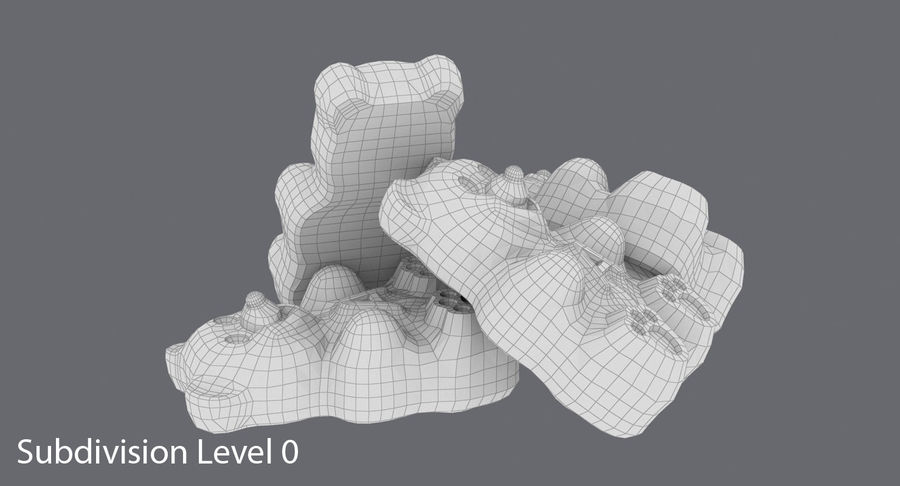 Gummy Bears royalty-free 3d model - Preview no. 15