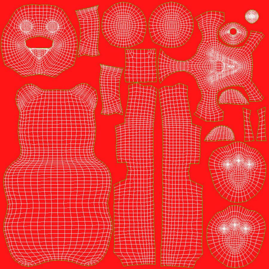 Ursinhos de goma royalty-free 3d model - Preview no. 20