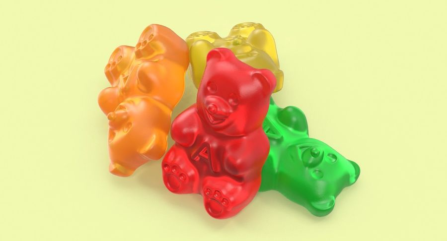 Gummy Bears royalty-free 3d model - Preview no. 10