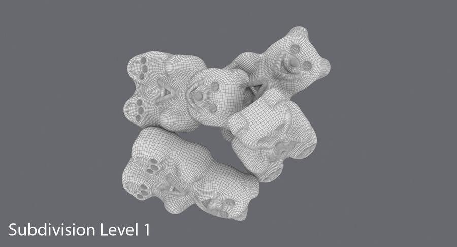 Ursinhos de goma royalty-free 3d model - Preview no. 12