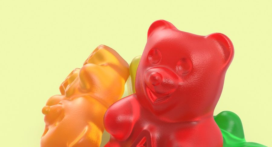 Gummy Bears royalty-free 3d model - Preview no. 7