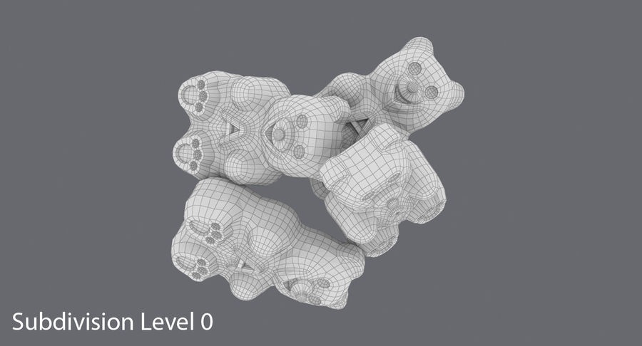 Gummy Bears royalty-free 3d model - Preview no. 11