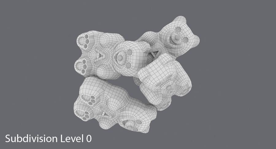 Ursinhos de goma royalty-free 3d model - Preview no. 11