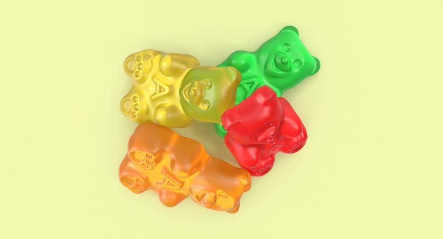 Ursinhos de goma royalty-free 3d model - Preview no. 4