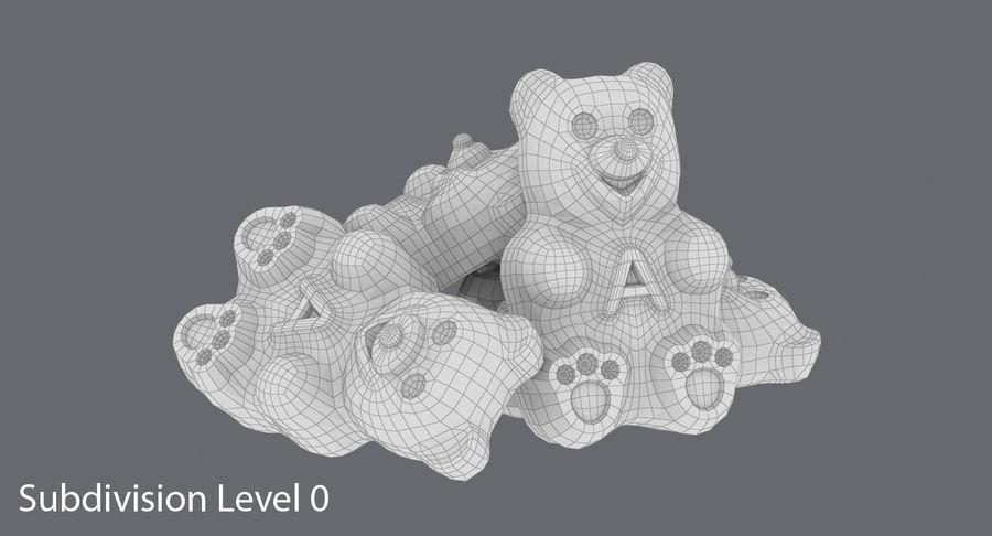 Ursinhos de goma royalty-free 3d model - Preview no. 13