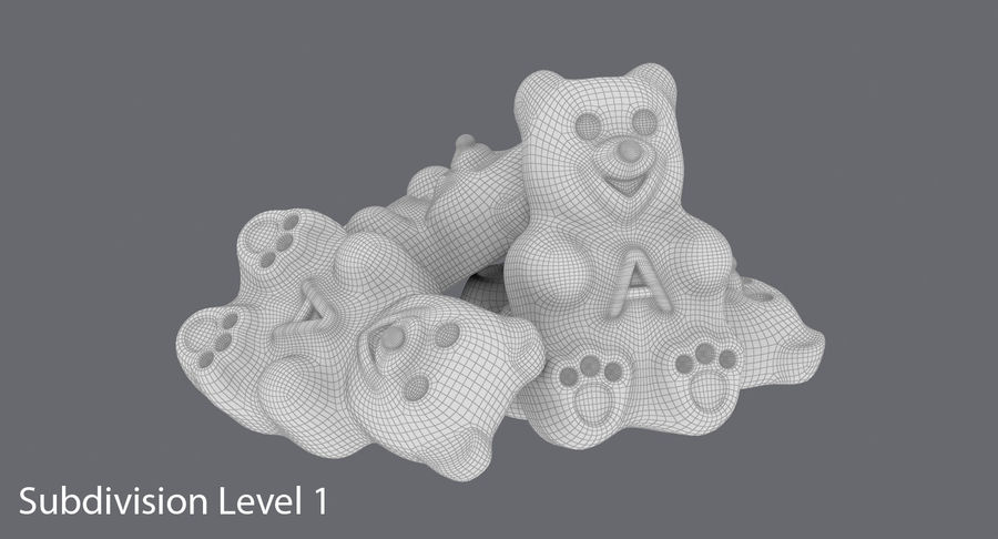 Gummy Bears royalty-free 3d model - Preview no. 14