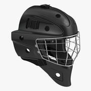 Hockey Goalie Mask Generic Black 3d model