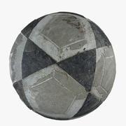 Antiguo futbol modelo 3d
