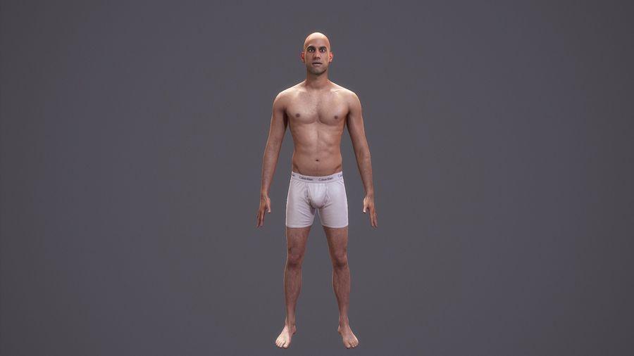 Hombre humano realista - Rig básico - LOD2048 - 169MBody royalty-free modelo 3d - Preview no. 1