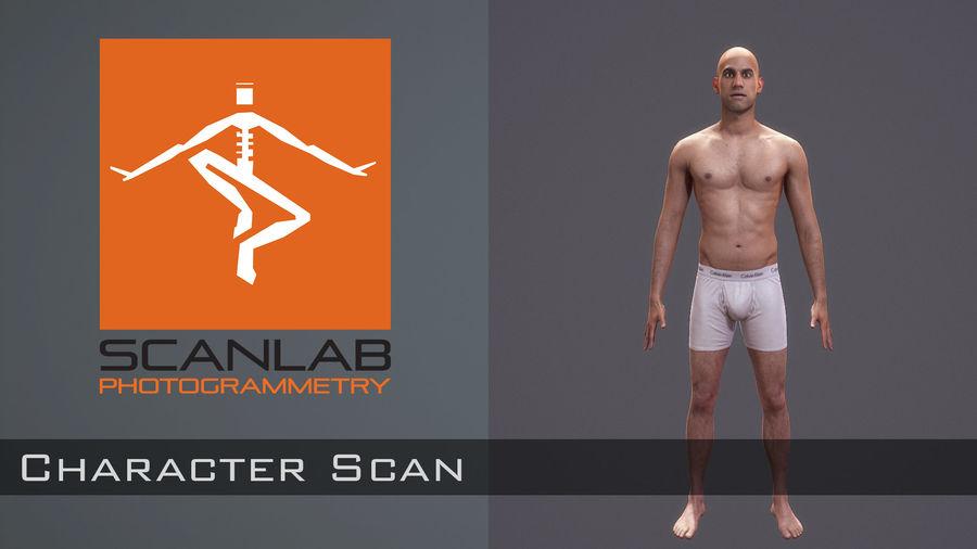 Hombre humano realista - Rig básico - LOD2048 - 169MBody royalty-free modelo 3d - Preview no. 3