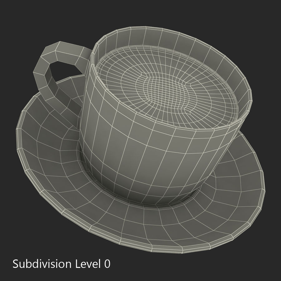 コーヒーカップ royalty-free 3d model - Preview no. 18