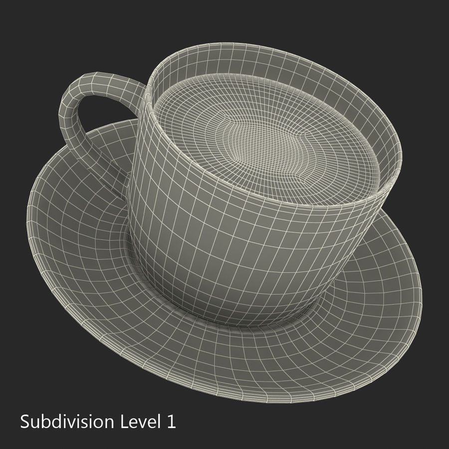コーヒーカップ royalty-free 3d model - Preview no. 19