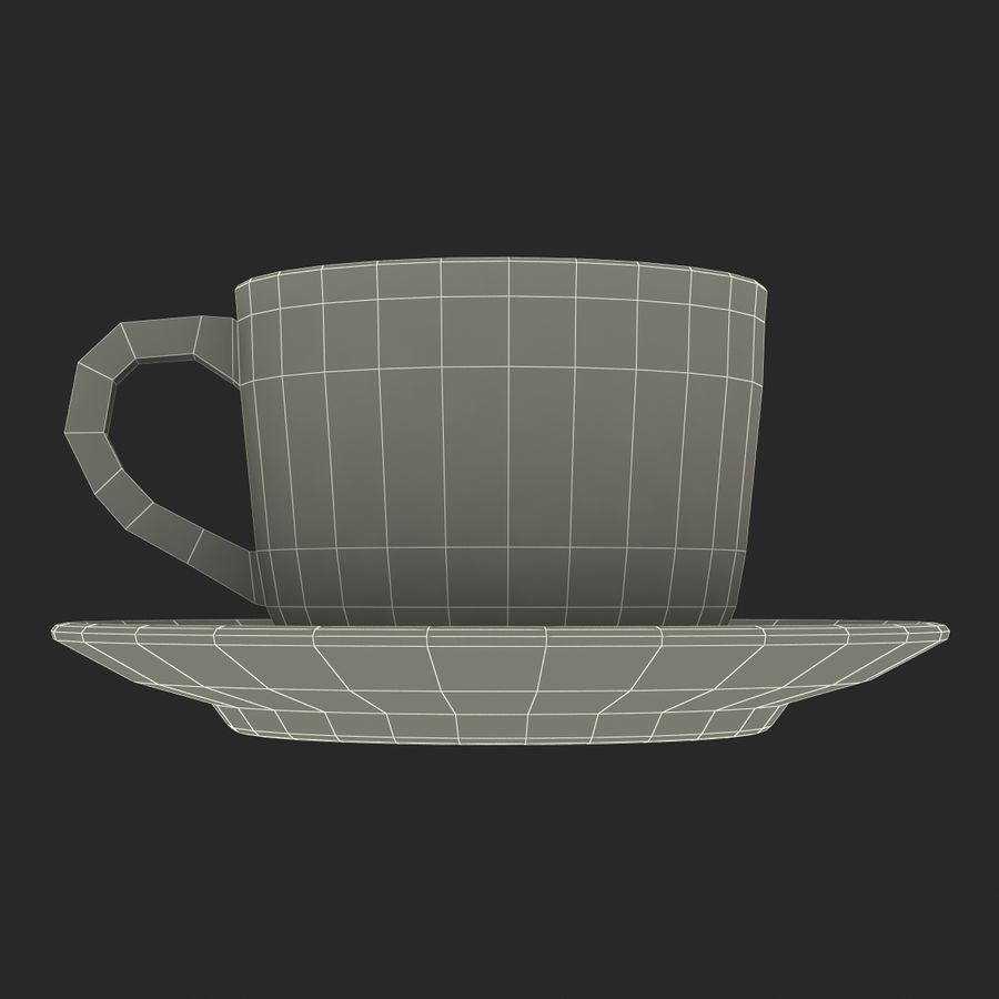 コーヒーカップ royalty-free 3d model - Preview no. 24