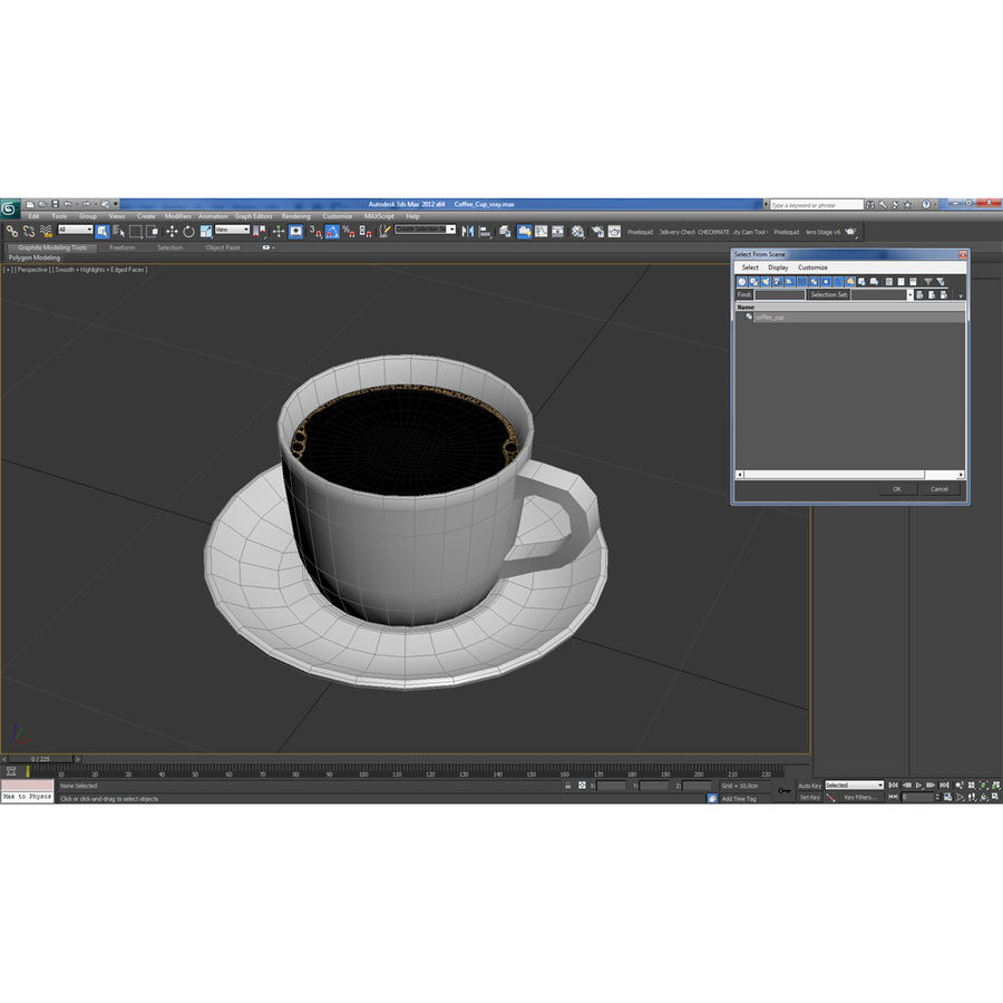 コーヒーカップ royalty-free 3d model - Preview no. 22