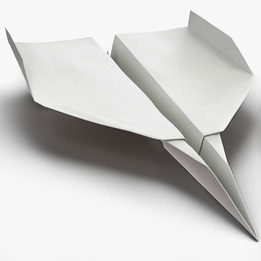Paper Plane 7 3D Model $29 -  max  obj  ma  fbx  c4d  3ds
