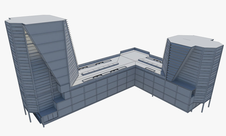 Business center 2 royalty-free 3d model - Preview no. 9