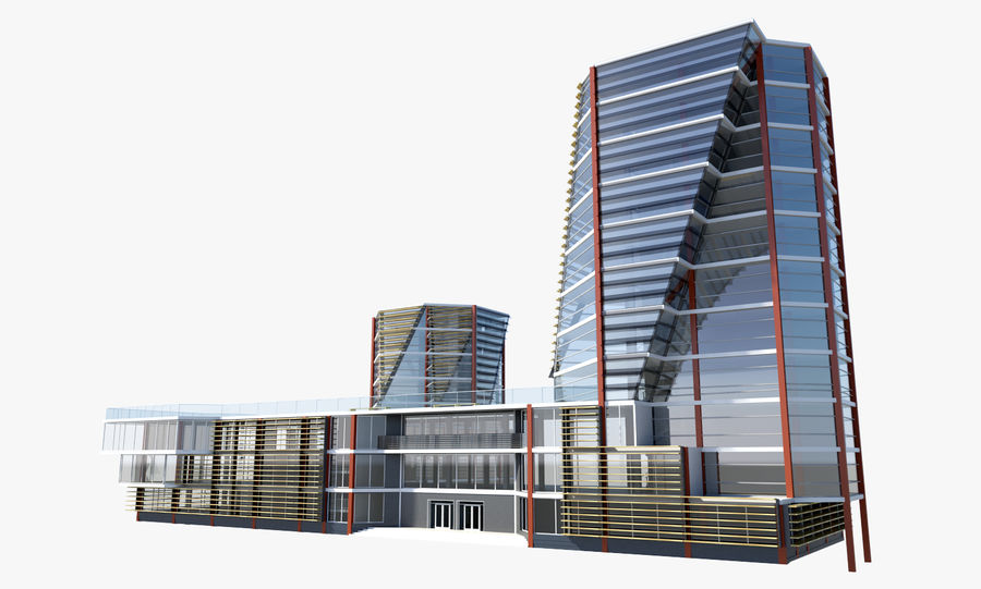 Business center 2 royalty-free 3d model - Preview no. 5