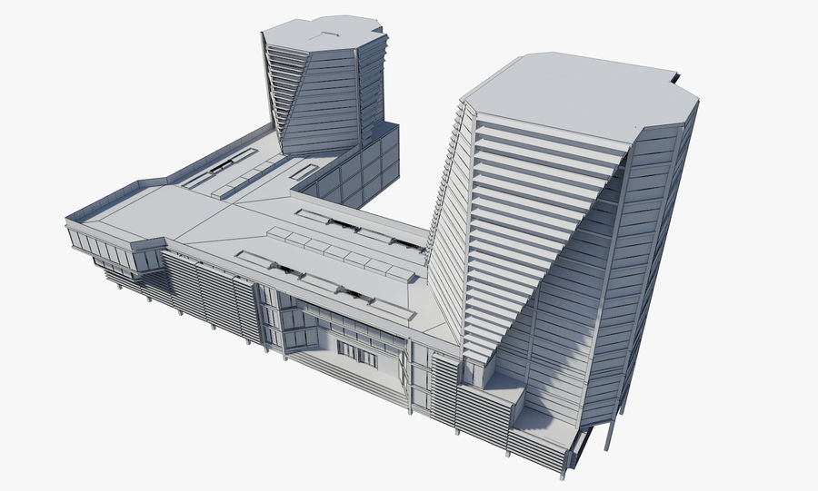 Business center 2 royalty-free 3d model - Preview no. 8