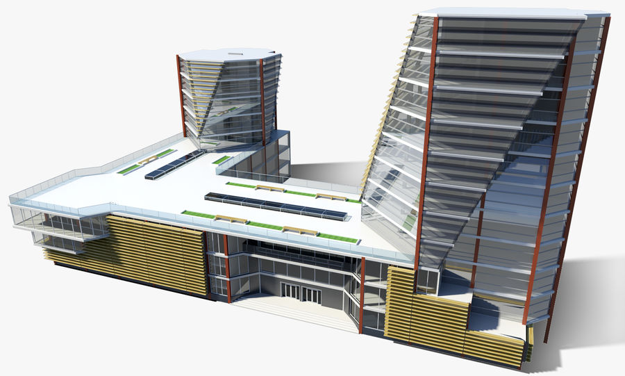 Business center 2 royalty-free 3d model - Preview no. 1