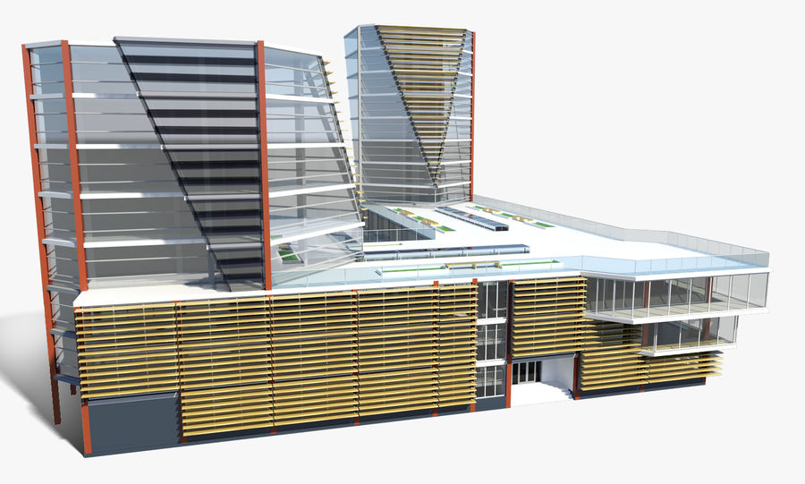 Business center 2 royalty-free 3d model - Preview no. 3