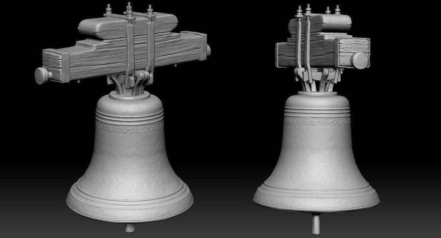 Dzwon kościelny royalty-free 3d model - Preview no. 9