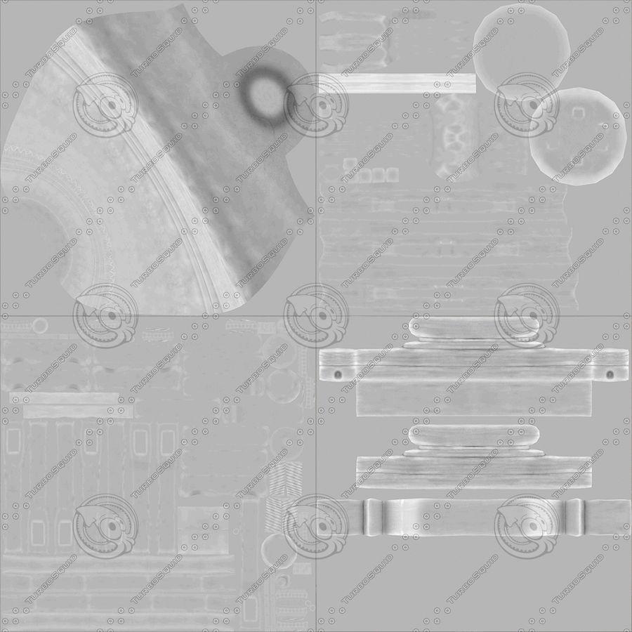 Dzwon kościelny royalty-free 3d model - Preview no. 11