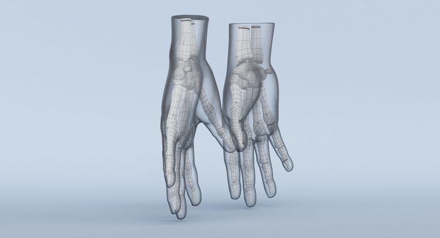 Anatomie de la main bleue royalty-free 3d model - Preview no. 22
