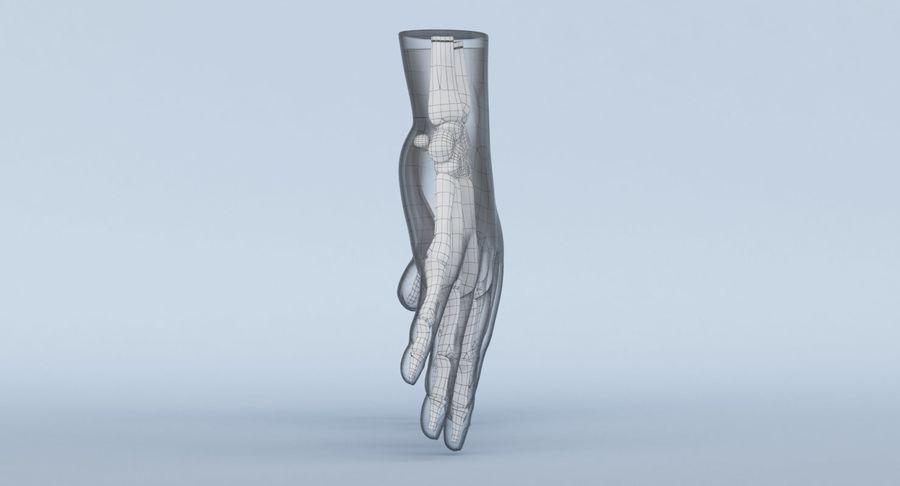 Anatomie de la main bleue royalty-free 3d model - Preview no. 17