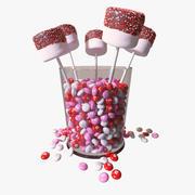 Valentines Marshmallow Pops modelo 3d
