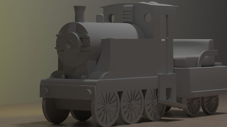 Tren de juguete royalty-free modelo 3d - Preview no. 4