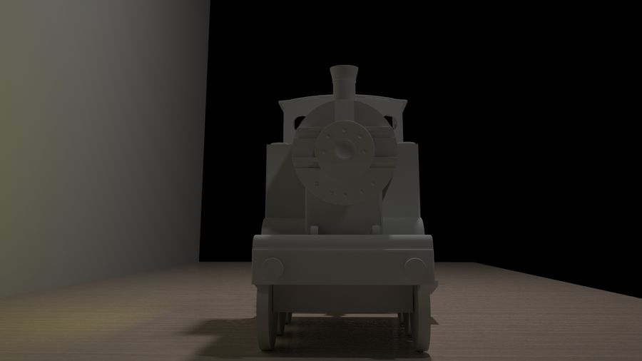 Spielzeugzug royalty-free 3d model - Preview no. 5