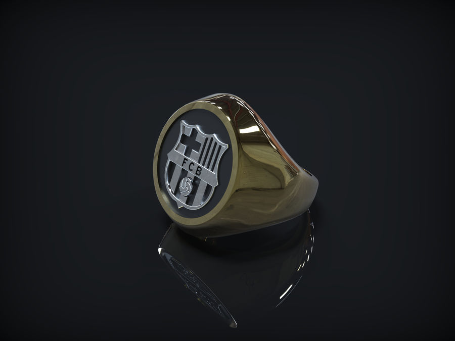 Ring FC Barcelona logo royalty-free 3d model - Preview no. 1