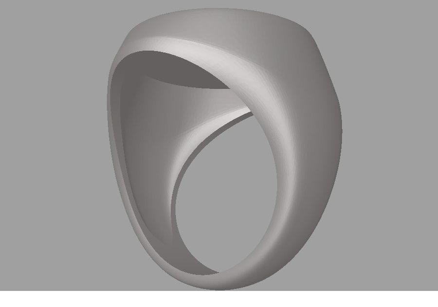 Ring FC Barcelona logo royalty-free 3d model - Preview no. 8