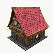 Średniowieczny dom fantasy 3d model
