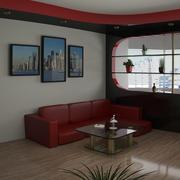 Zimmer modernes Design 3d model