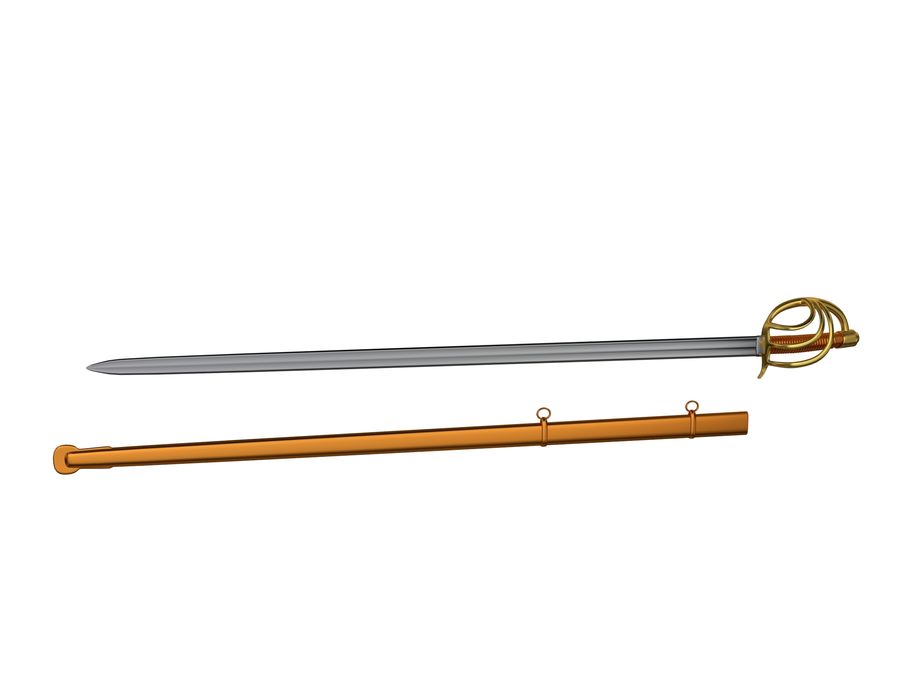 Sword royalty-free 3d model - Preview no. 4