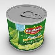 lima beans can 3d model