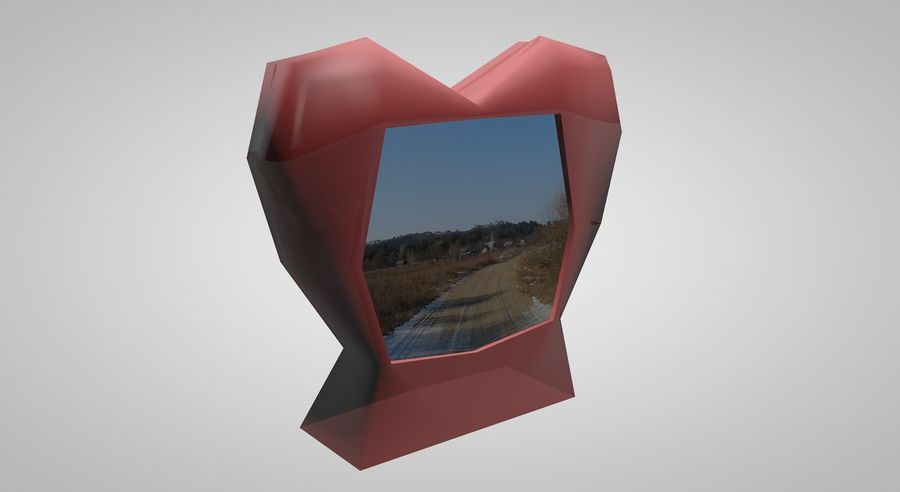 Valentine Photoframe royalty-free 3d model - Preview no. 1
