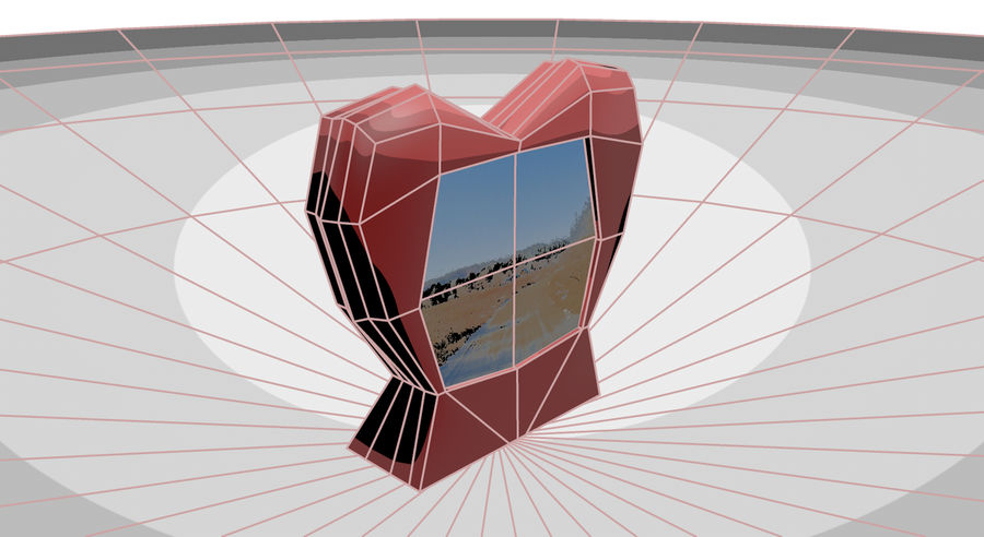 Valentine Photoframe royalty-free 3d model - Preview no. 4