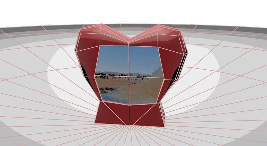 Valentine Photoframe royalty-free 3d model - Preview no. 5