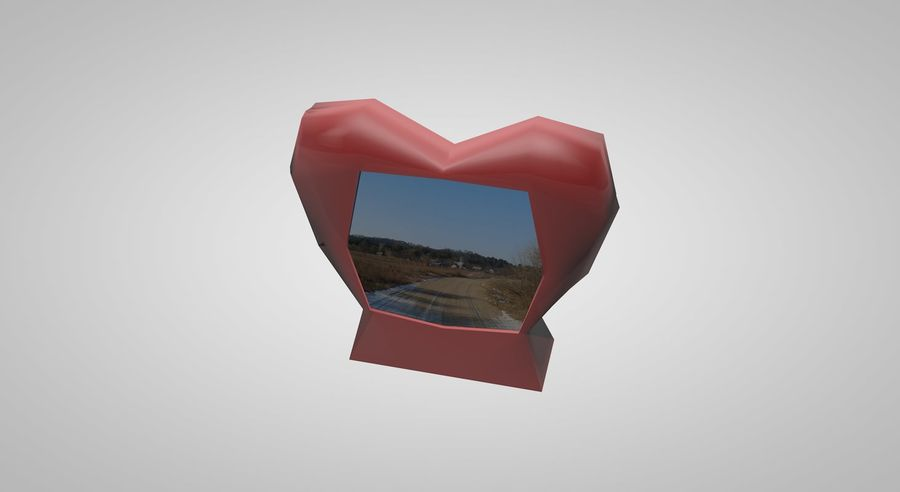 Valentine Photoframe royalty-free 3d model - Preview no. 3