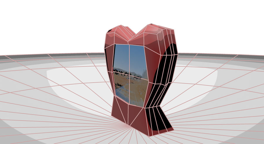 Valentine Photoframe royalty-free 3d model - Preview no. 6