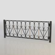 Iron Fence 019 3d model