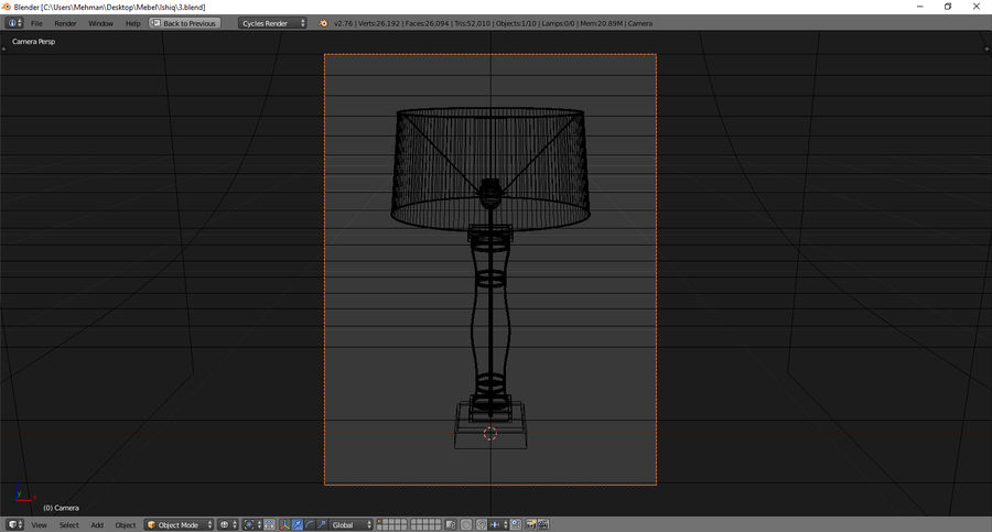 Lamp 3 royalty-free 3d model - Preview no. 5