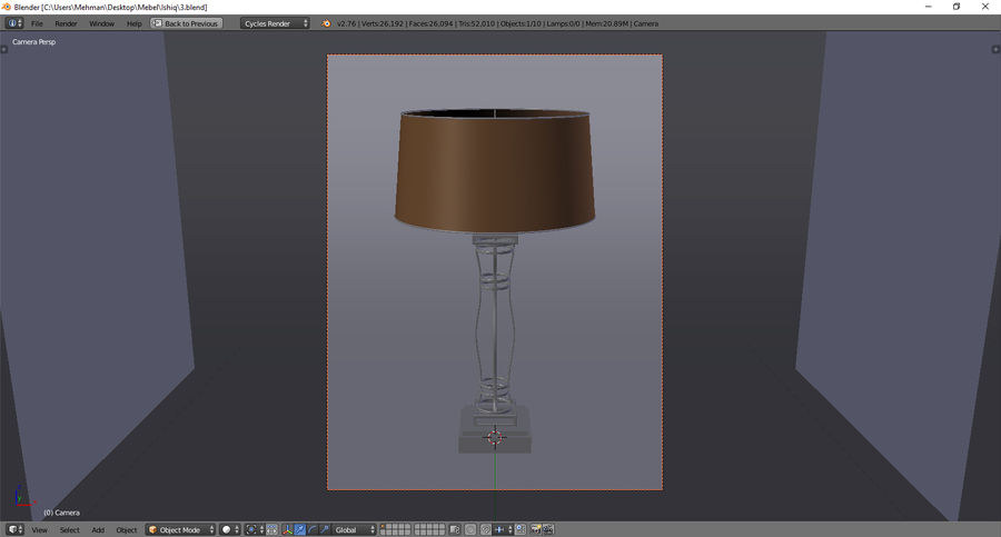 Lamp 3 royalty-free 3d model - Preview no. 4