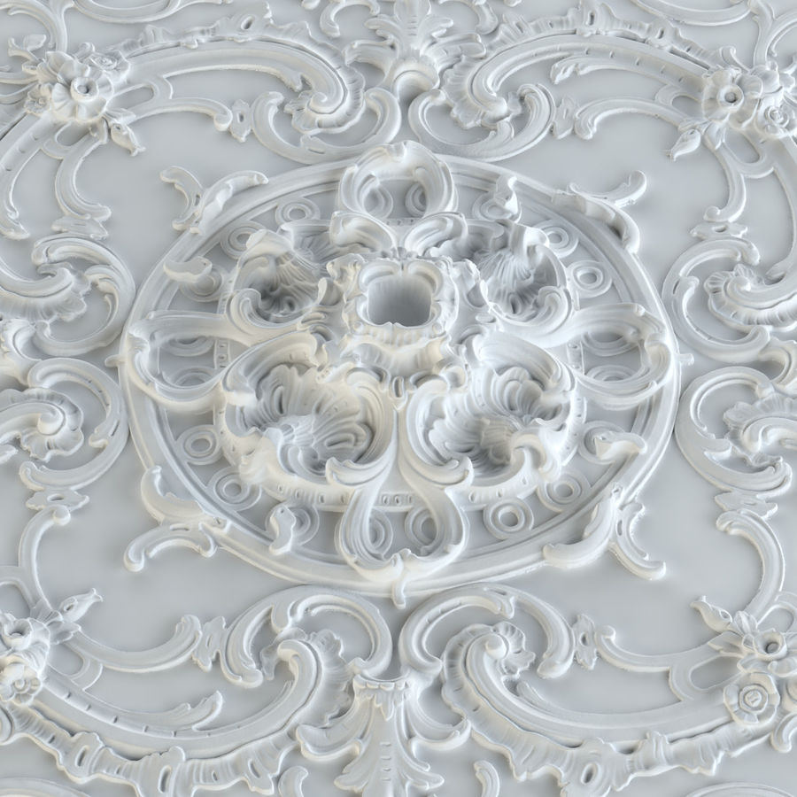 Rosette 129 royalty-free 3d model - Preview no. 5