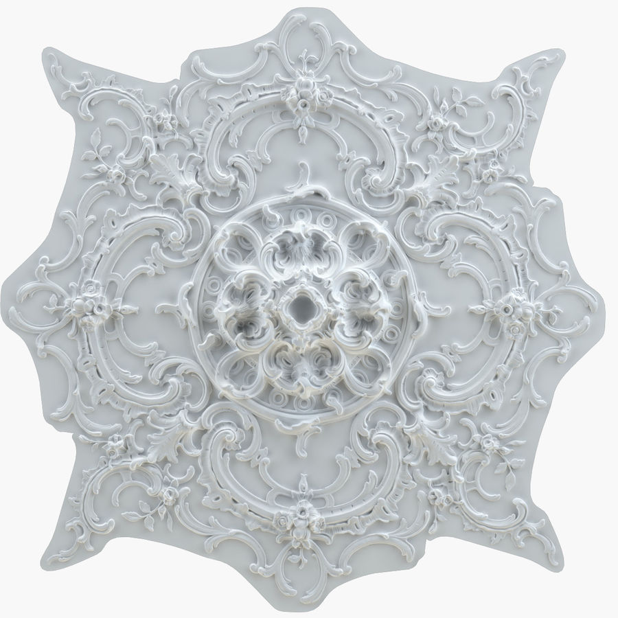 Rosette 129 royalty-free 3d model - Preview no. 1