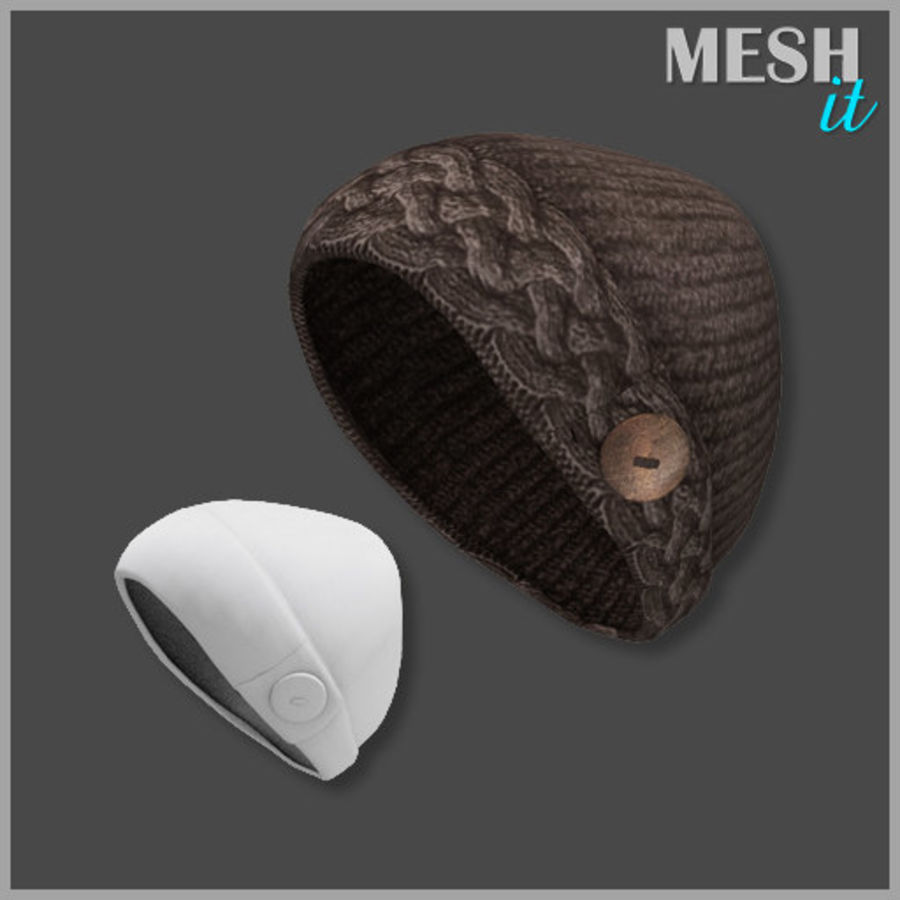 Knit Hat royalty-free 3d model - Preview no. 1