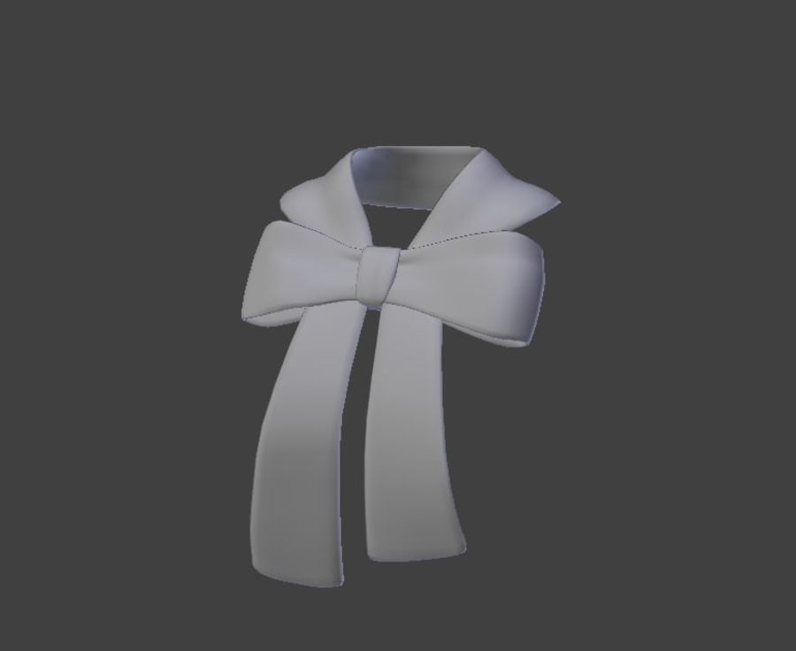 Bow Scarf royalty-free 3d model - Preview no. 2